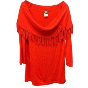 Sharon Young Red Sweater Top Size Large NWT